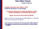 yellow ribbon program example 2 continued