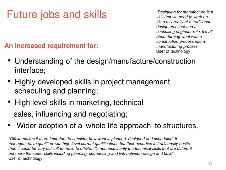 Future jobs and skills