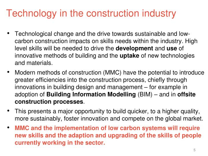 Technology in the construction industry
