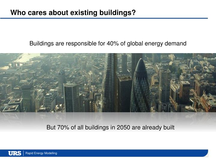 Who cares about existing buildings?