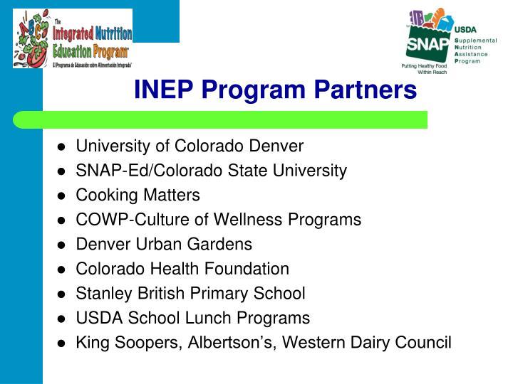 INEP Program Partners