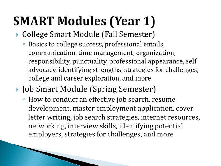 SMART Modules (Year 1)