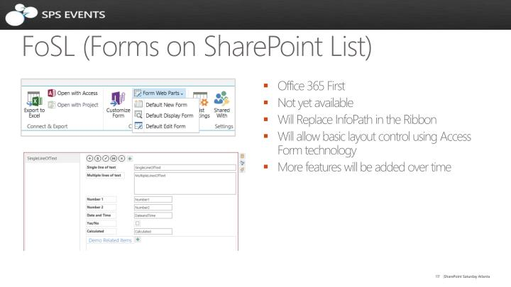 FoSL (Forms on SharePoint List)