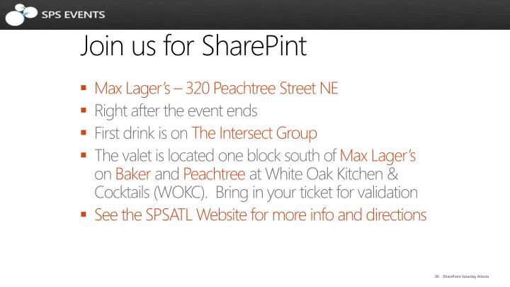 Join us for SharePint