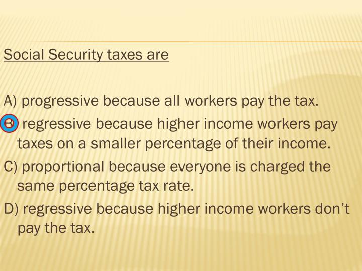 Social Security taxes are