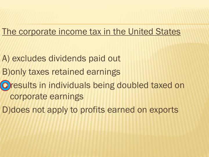 The corporate income tax in the United States