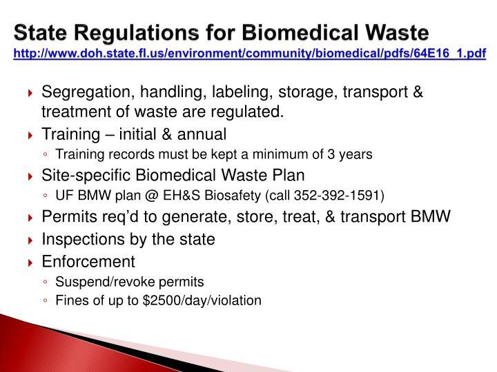 PPT - UF Biomedical Waste Training PowerPoint Presentation ...