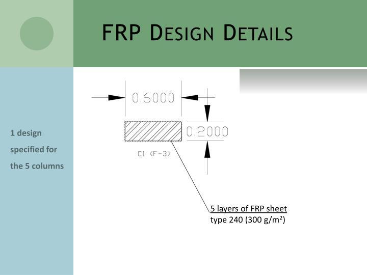 FRP Design Details