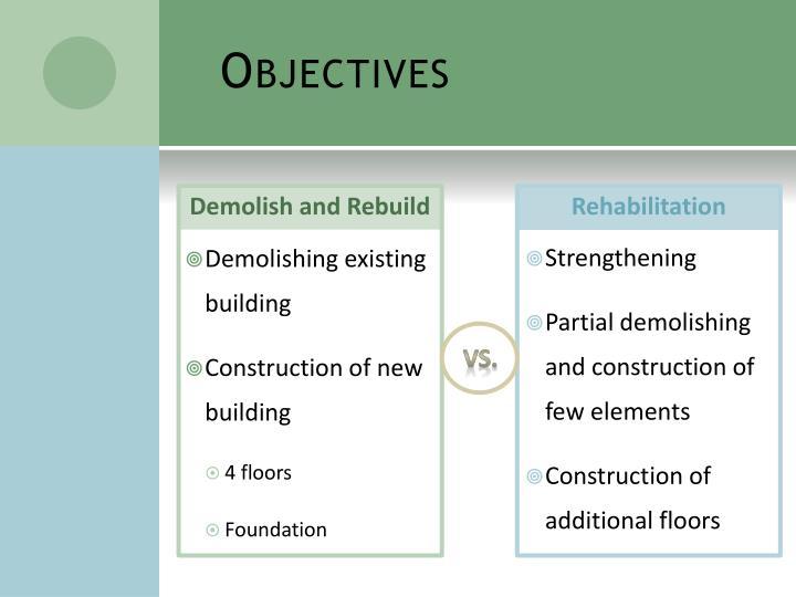 Demolish and Rebuild