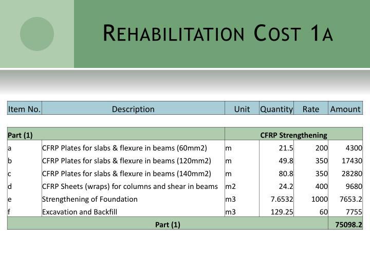 Rehabilitation Cost 1a