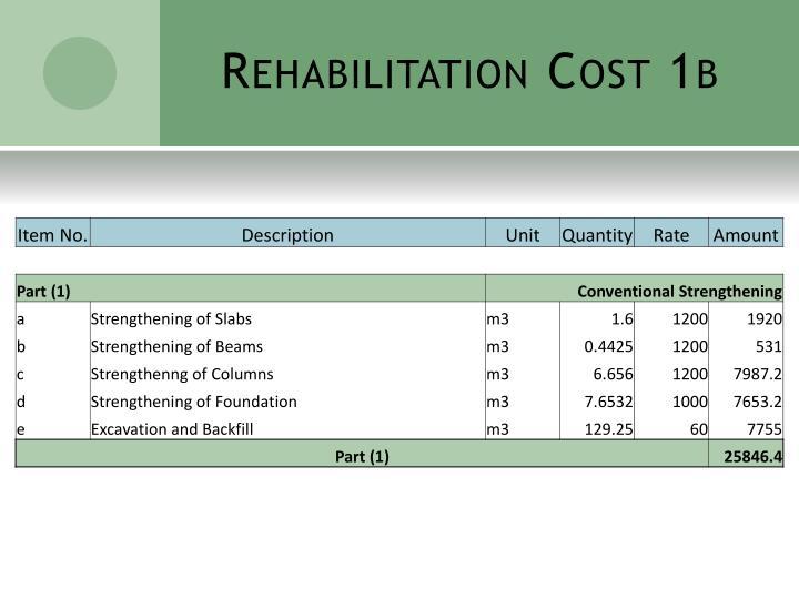 Rehabilitation Cost 1b