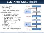 cms trigger daq today