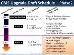 cms upgrade draft schedule phase2