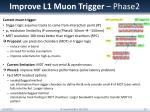 improve l1 muon trigger phase2