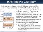 lchb trigger daq today
