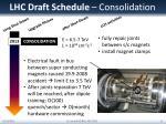 lhc draft schedule consolidation
