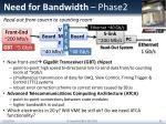 need for bandwidth phase2