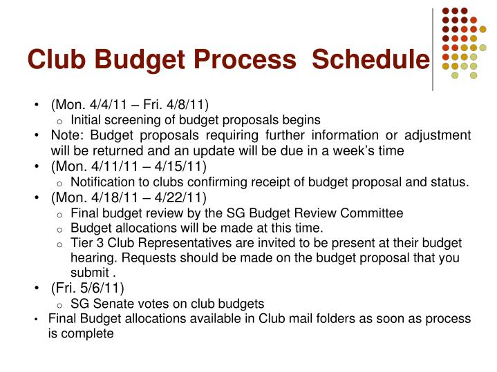 Club Budget Process