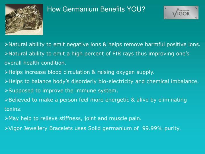How Germanium Benefits YOU?