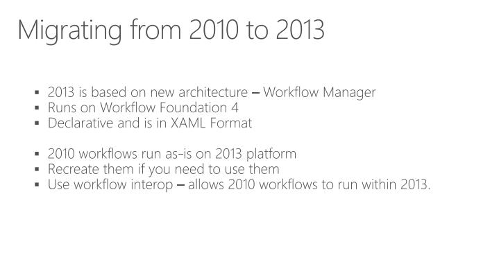 Migrating from 2010 to 2013