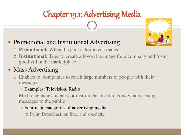 Chapter 19.1: Advertising Media