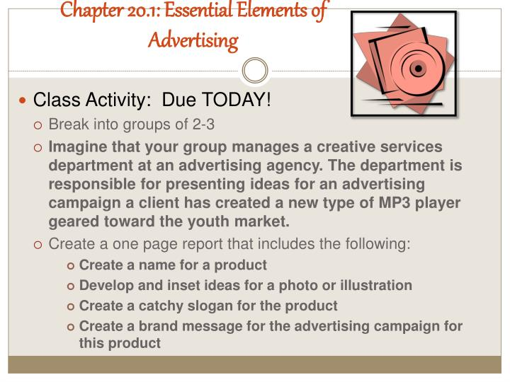 Chapter 20.1: Essential Elements of Advertising