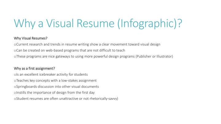 Why a visual resume infographic