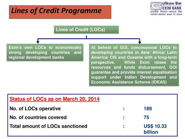 Lines of Credit Programme