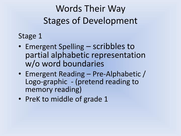 ppt - words their way powerpoint presentation