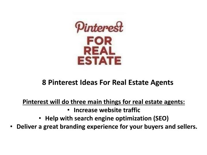 8 Pinterest Ideas For Real Estate Agents