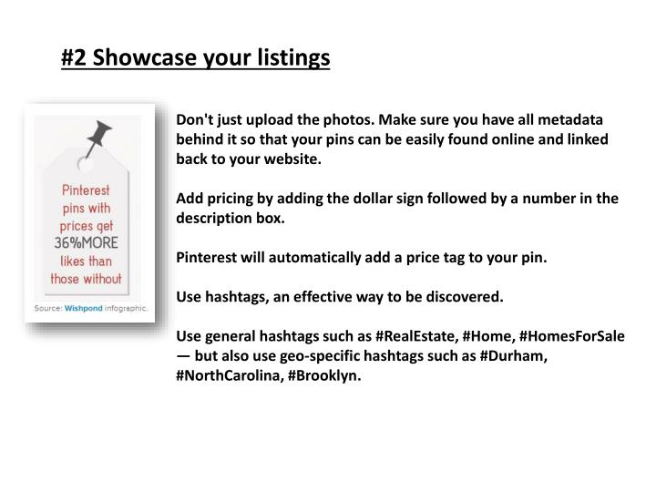 #2 Showcase your listings