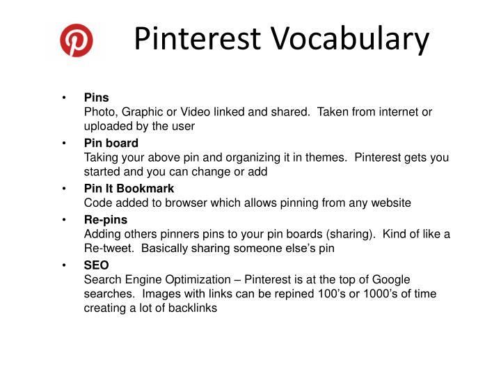 Pinterest Vocabulary