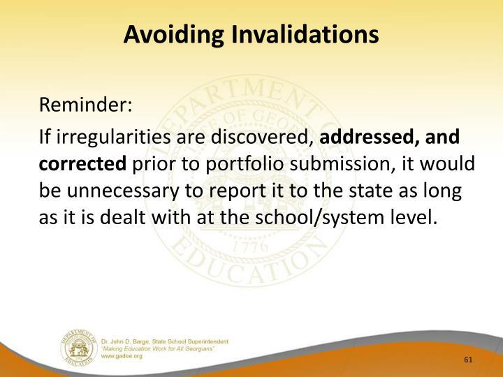 Avoiding Invalidations