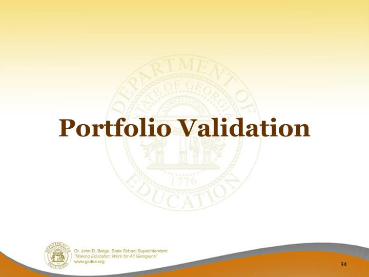 Portfolio Validation