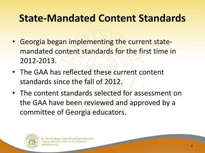State-Mandated Content Standards