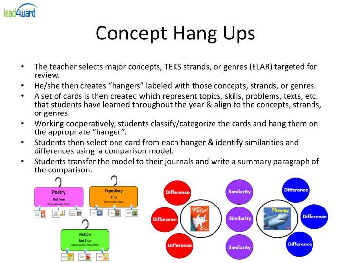 Concept Hang Ups