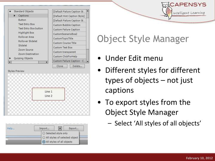 Object Style Manager
