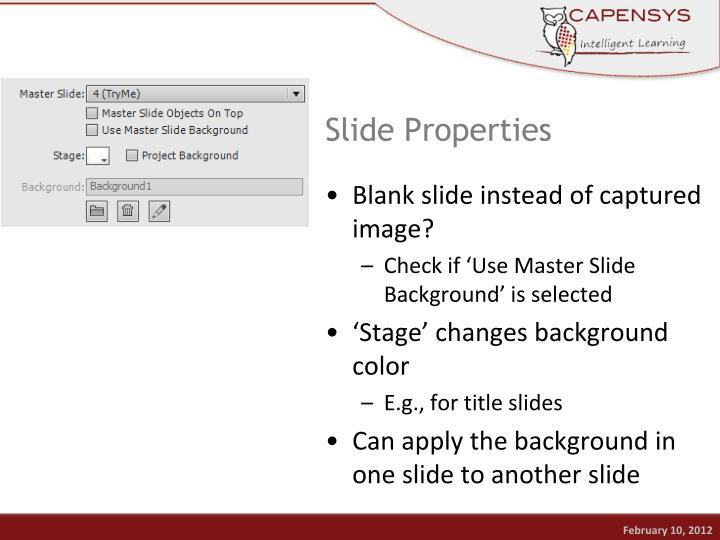 Slide Properties