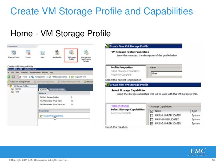 Create VM Storage Profile