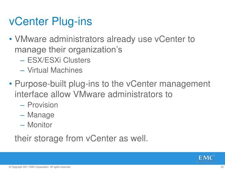 vCenter Plug-ins
