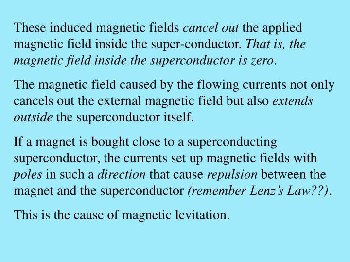 These induced magnetic fields