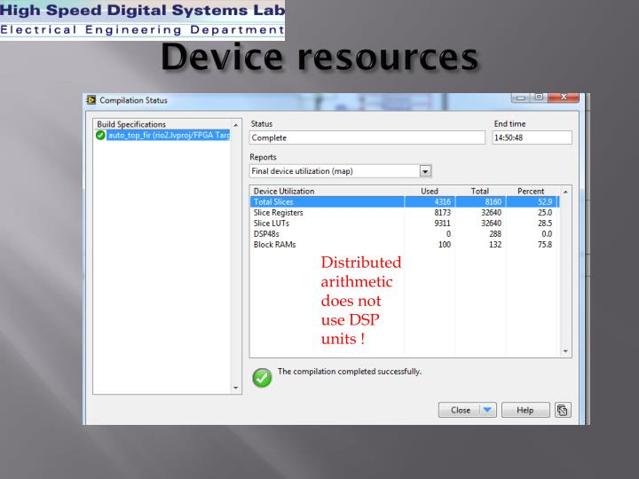 Device resources