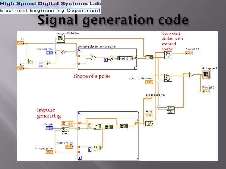 Signal generation code