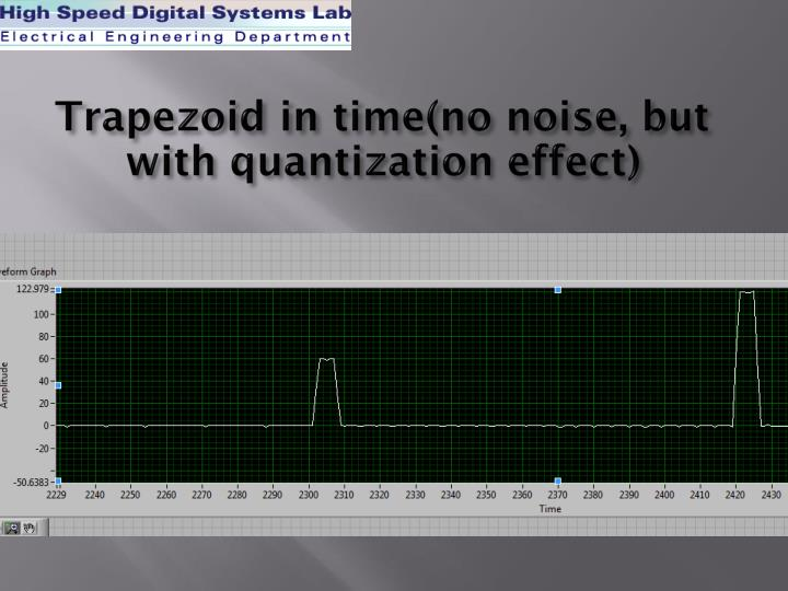 Trapezoid in time(no noise, but with quantization effect)