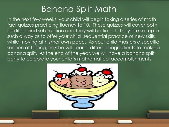 Banana Split Math
