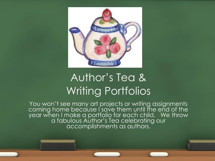 Author's Tea &