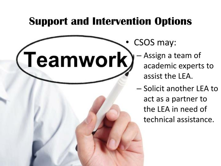 Support and Intervention Options