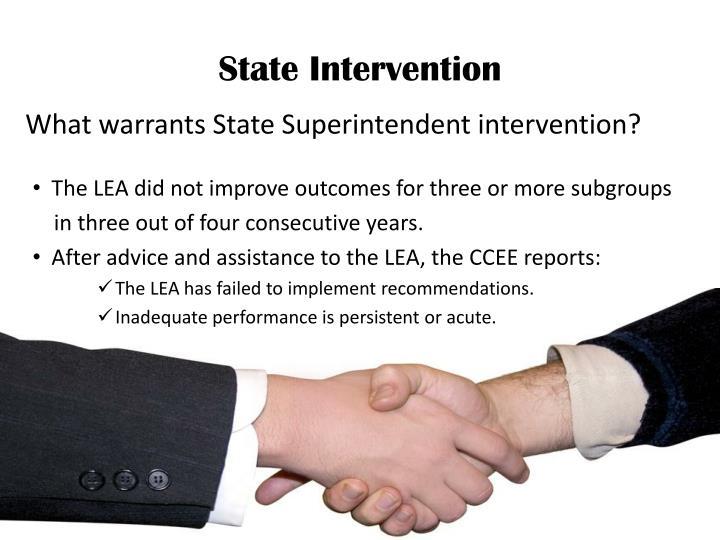 State Intervention
