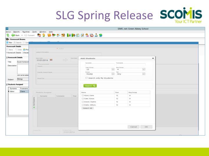 SLG Spring Release