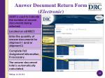 answer document return form electronic